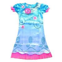 Baby Girls Nightie Nightdress Disney Pyjamas Summer Sleepwear Dress 2-13 Years