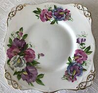Vintage Royal Tuscan Square Fine English Bone China Square Server Dessert Plate
