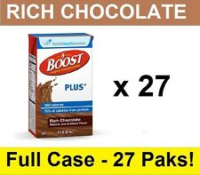 Nestle BOOST PLUS Nutritional Rich Chocolate 8oz Drink FREE SHIP- 27 Tetra Briks
