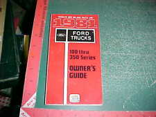 1981  FORD f100 F150 F250 F350 TRUCK OWNER'S GUIDE OPERATION GLOVEBOX MANUAL nos