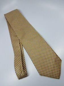 Nordstrom Silk Tie Yellow Blue Micro Mesh Geometric (2474)