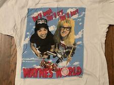 vtg Wayne's World t shirt horror movie promo snl comedy austin powers office the