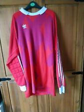 More details for vintage adidas goalkeeper shirt. red.
