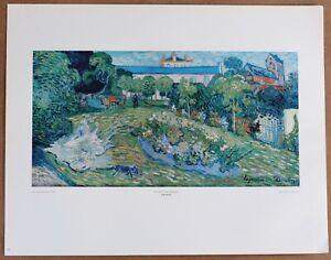 Van Gogh  LeJardin de Daeigny Rare Vintage Original 1st Ltd Ed 1960 Lithograph