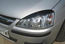 Vauxhal Corsa C eyebrows, genuine  ABS plastic headlight  00-06 eyelids spoiler