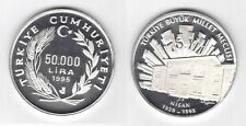 TURKEY - RARE SILVER PROOF 50000 LIRA COIN 1995 YEAR KM#1033 75th ANNI ASSEMBLY