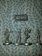 AniMall Anime Projects RARE The 4 Knight Sabers in Hardsuits Metal Miniatures