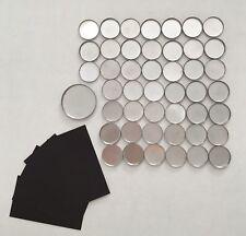 Empty Round Eyeshadow Palette Pans 26mm SET 46 pans plus magnet stickers