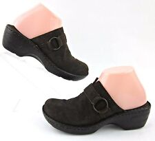 Born Womens Slide Mules Brown Suede Leather Sz 8