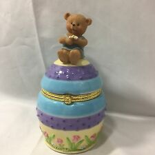 Twicenice1006 ebay stores hallmark gourmet gifts easter bear on egg trinket box 5272p2 easter holiday negle Image collections