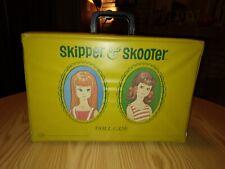 VINTAGE 1965 MATTEL SKIPPER & SKOOTER DOLL CARRY CASE YELLOW FASHIONS BARBIE TLC