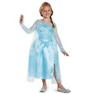 NEW M Officially Licensed Disney Princess Elsa Frozen Dress Halloween Costume