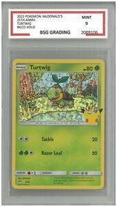 2021 Pokémon: McDonald's 25th Anniversary TURTWIG #4/25 Holo ~ BSG 9 Mint