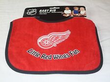 NHL NWT INFANT BABY BIB- RED - DETROIT RED WINGS