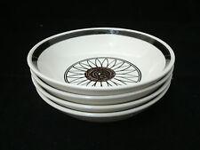"Vtg Royal USA CASA DEL SOL Cavalier 4-6 3/8"" Coupe Cereal Bowls Flower Center"