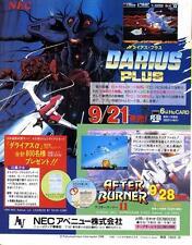 Darius Plus After Burner II Deko Boko PC Engine NEC GAME MAGAZINE PROMO CLIPPING