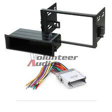 Car Stereo Radio Kit Dash Installation Mounting Trim Bezel W/ Wiring Harness