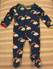 Toby Tiger Organic, Unisex Rainbow Babygrow 3-6months, Excellent Condition.