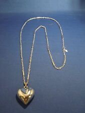 Sarah Coventry Silvertone Rope Chain Necklace Heart Pendant
