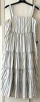 "M&S Autograph Sz 14 16 18 Striped Tiered Strappy Linen Blend Maxi Dress 50""L £55"
