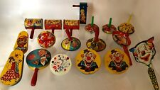 Vtg 1920s-50s Party Noisemakers~18pc~Tin Litho~Clackers Ratchets Rattles Shakers