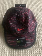 NEW Nike baby Infant Baseball hat Cap Dri-fit 12/24M Black Red multicolor