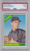 1966 Topps #598 Gaylord Perry PSA 7 San Francisco Giants Hi #