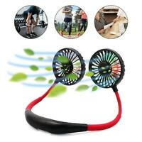 360° Rotation Portable Hanging Neck Fan USB Rechargeable Mini Lazy Neckband Fan