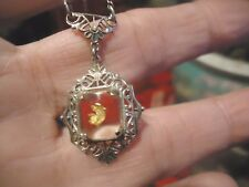 Antique Sterling Silver Edwardian Filigree Gold Nugget Necklace