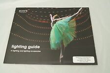 Sony lighting guide 8x11 color brochure 2012/ 58 pages