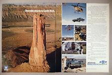 Chevrolet Impala 2-Page PRINT AD - 1972 ~ Castle Rock, Moab, Utah ~ 1973 model