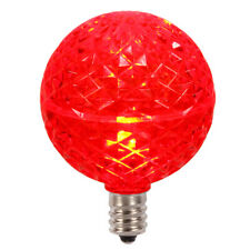 G50 Faceted LED Red Bulb E12 .38W 10ea