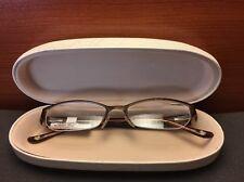 Bebe Stainless Steel Half-rim Dress Code Brown Sugar 49-16-135 NEW RX eyeglasses