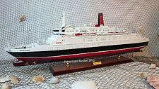 "Queen Elizabeth II Cruise Ship Model 39"" - Handmade Wooden Model Ship NEW"