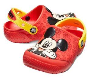 New Crocs Fun Lab Disney Mickey Mouse OL Clog Shoes Boy's Size 12c NWT!