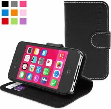Snugg iPhone 4S / 4 Wallet Case – Leather Card Flip Case