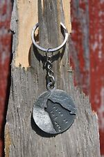 Lead Free Pewter Wolf Keychain gift key chain Bark at the Moon Hastings Pewter