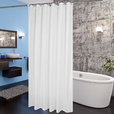 Fabric Shower Curtain 36 x 72 Inch Bathroom Mildew Resistant Waterproof, White