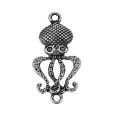 Octopus Pendant Connector Antiqued Silver Steampunk Octopus Charm Link