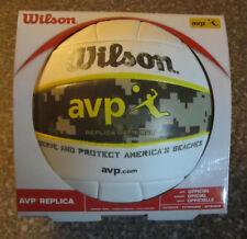 Wilson AVP Replica Game Ball Beach Volleyball Yellow White Military Camo NEW NIB