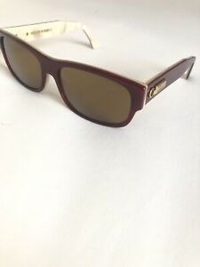 New ZILLI Sun Glasses Palatin Red With Gold Logo Hand Made In France