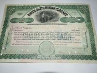 North Butte Mining Company 1906 stock certificate