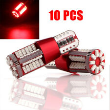 10 Red Canbus No Error T10 W5W 57 LED Super Bright Car Light Bulb Interior Light