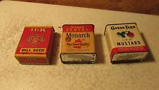 3 Old Spice tins H & K Monarch Clover Farm