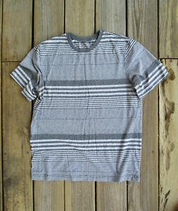 OP Ocean Pacific Retro Striped T-Shirt Mens Medium Gray