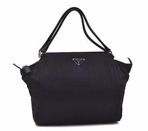 Authentic PRADA Nylon Leather Shoulder Hand Bag Purple D7552