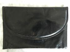 Bottega Veneta Clutch Hand Bag Purse Wallet Black Vintage Leather Travel Case 29
