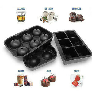 Silicone Mould Ice Cube Tray Mold Ball Square Skull Sphere For Cocktails Whiskey