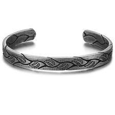 Retro Viking Cuff Bracelet Titanium Stainless Steel Vintage Bangle For Men Women