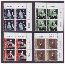 Gibraltar MNH 2001 Royalty Queen Victoria set cylinder blocks mint